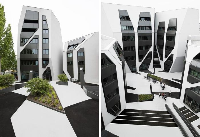 «Sonnenhof» - жилой комплекс с футуристическим фасадом.