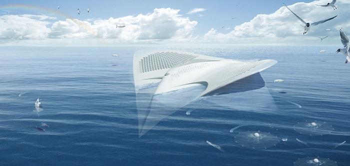 Концепт города на воде от французского архитектора.