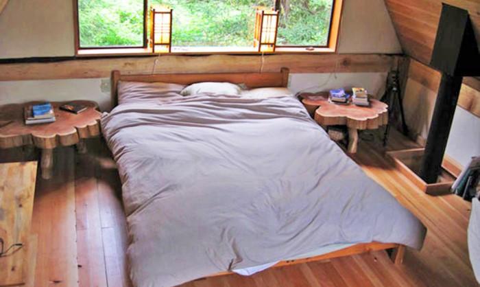 Japanese Forest House. Спальня.