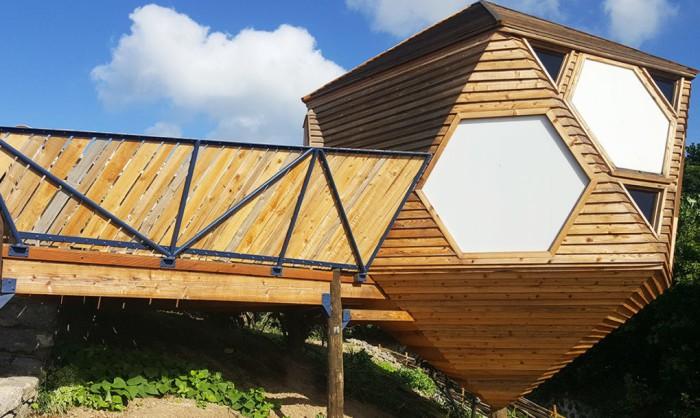 Эко-дома для туристов на Азорских островах.