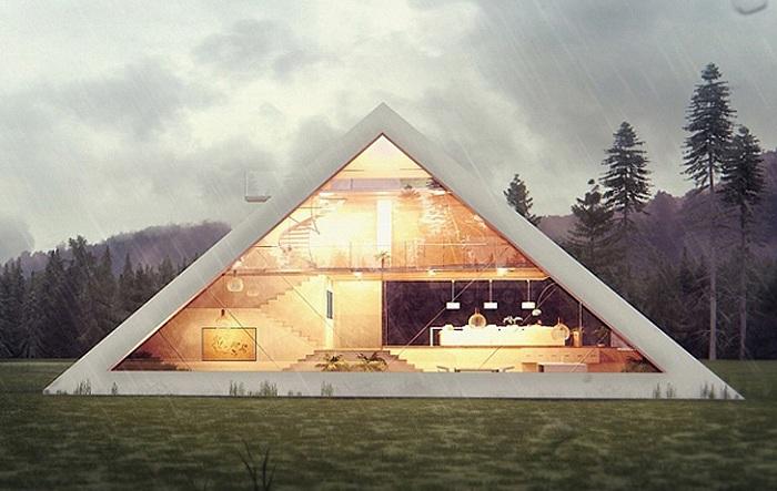 Pyramid House - оригинальный концепт дома в виде пирамиды.