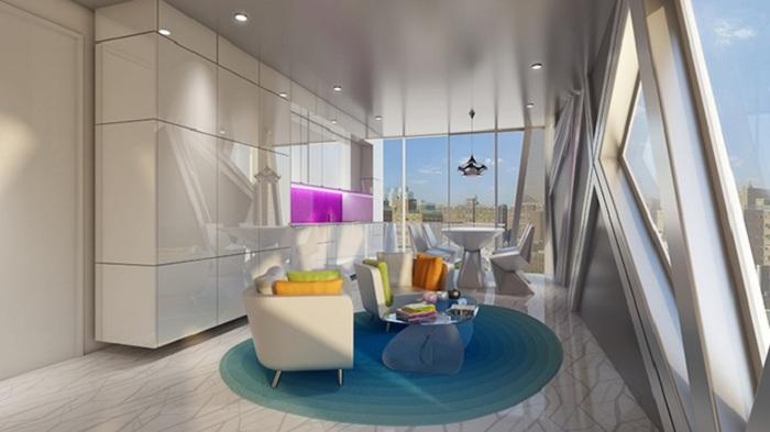 Креативный интерьер комнаты в доме HAP 6.