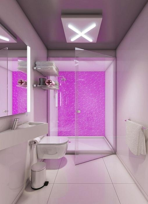 Ультрасовременный дизайн ванной комнаты.