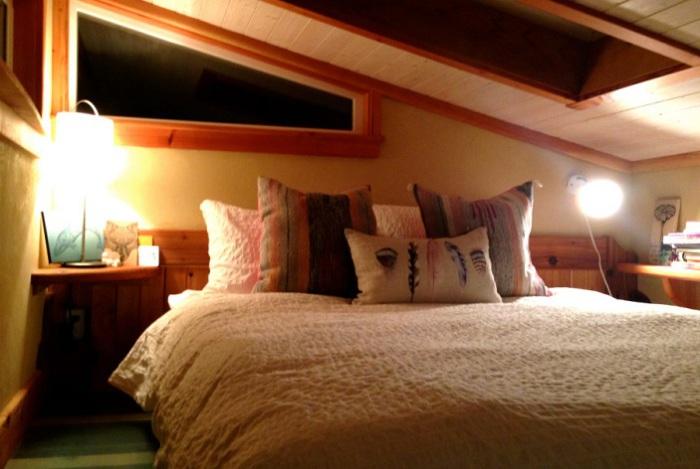 Keva Tiny House. Место для сна.