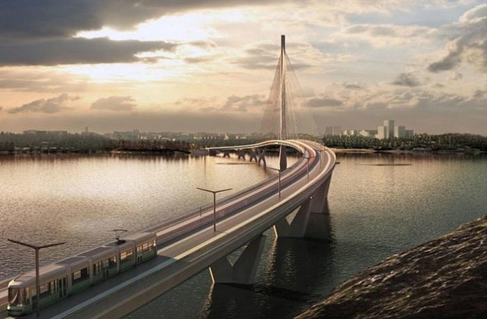 Kruunusillat - самый длинный вантовый мост в Финляндии.