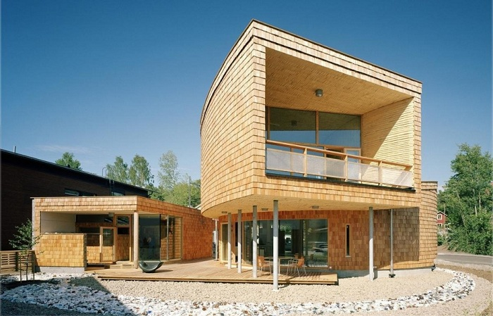 Спиралевидный дом. Фасад.