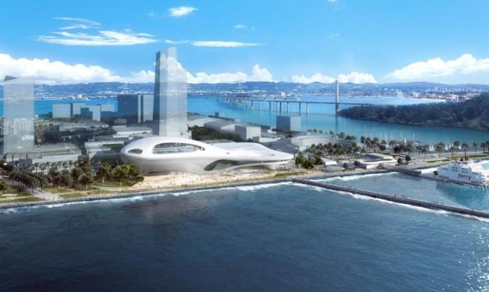 Проект Музея нарративного искусства, предназначенный для строительства в Сан-Франциско.