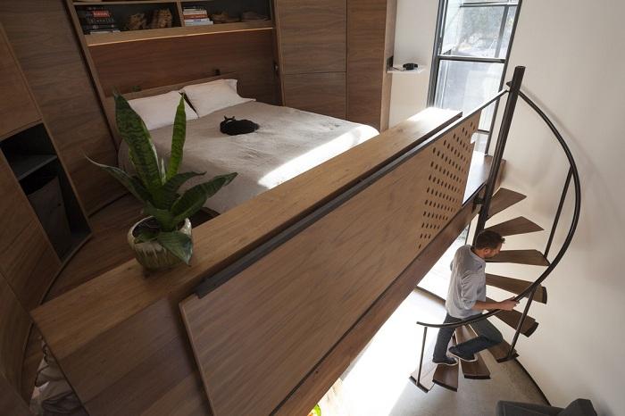 Уютный спальный лофт.