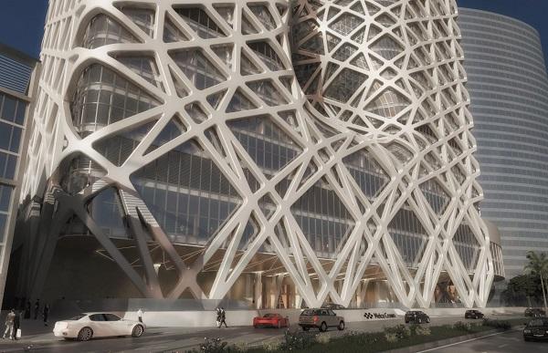 Решетчатая конструкция отеля в Макао.