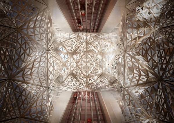 Необычный дизайн отеля от Zaha Hadid.