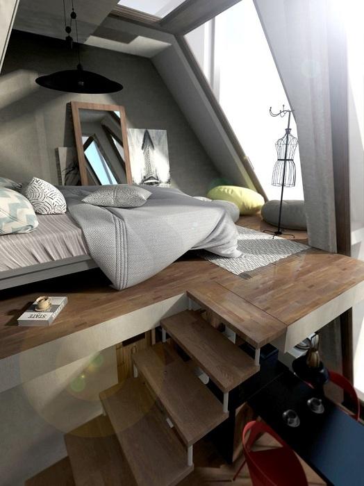Mobile Home. Спальня.