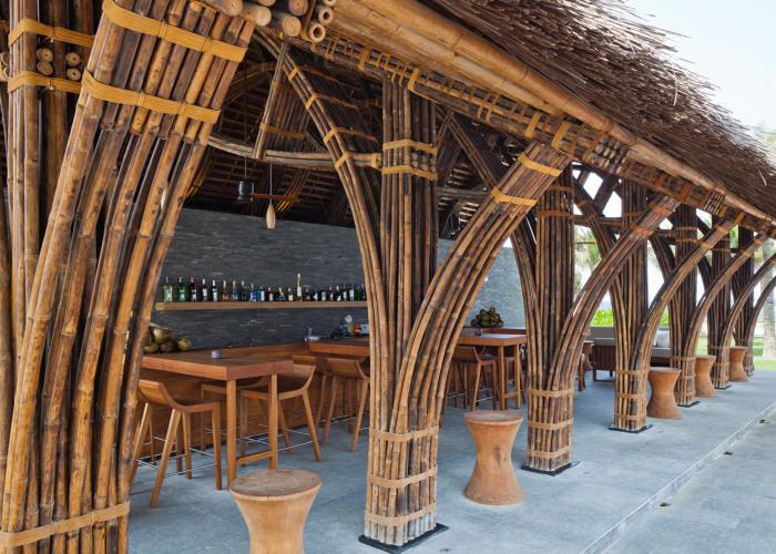 Конструкция, полностью выполненная из бамбука.