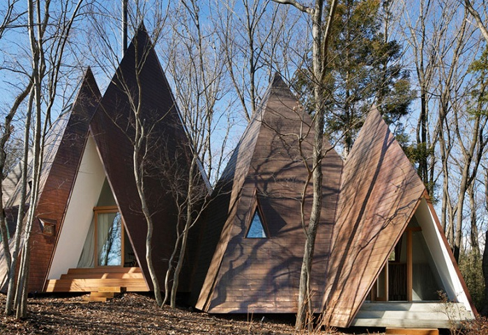Nasu Tepee - загородный дом в виде палаток.