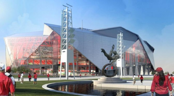 Вид будущего стадиона Atlanta Falcons.