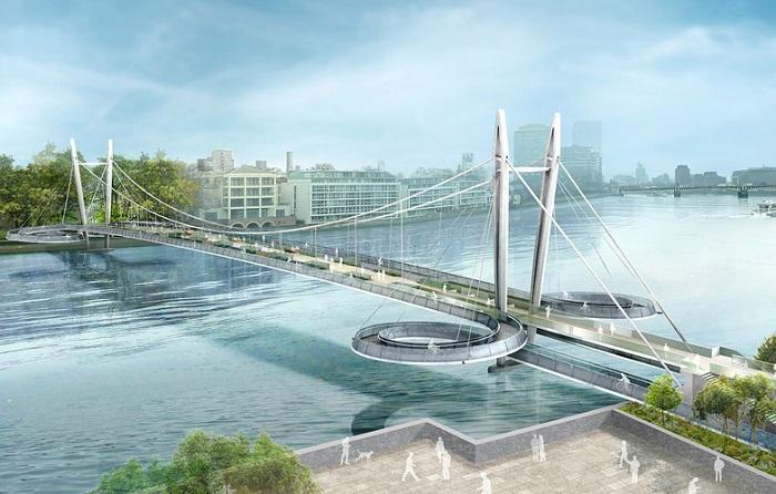 Проект будущего моста через Темзу.