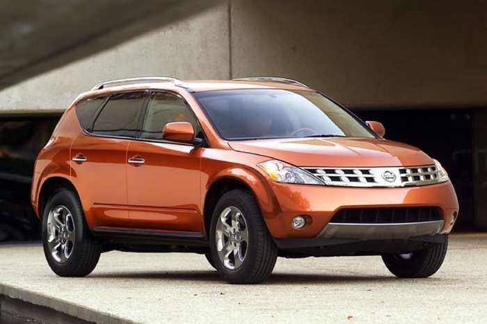Японский кроссовер Nissan Murano 2003 года.