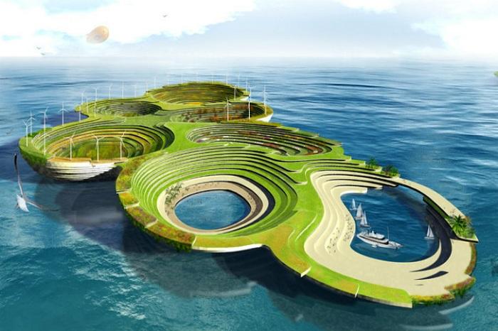 «Ноев ковчег» - концепт плавучего города от сербских дизайнеров.