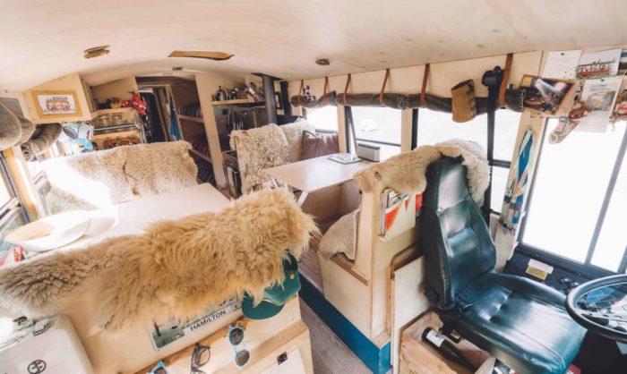 The Nomad House. Автобус, переделанный в дом для путешествий.