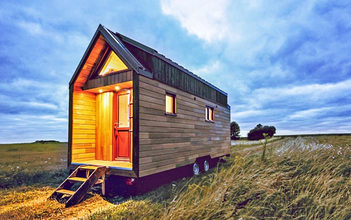 Odyssee - мобильный домик на колесах площадью всего 20 кв. метров.