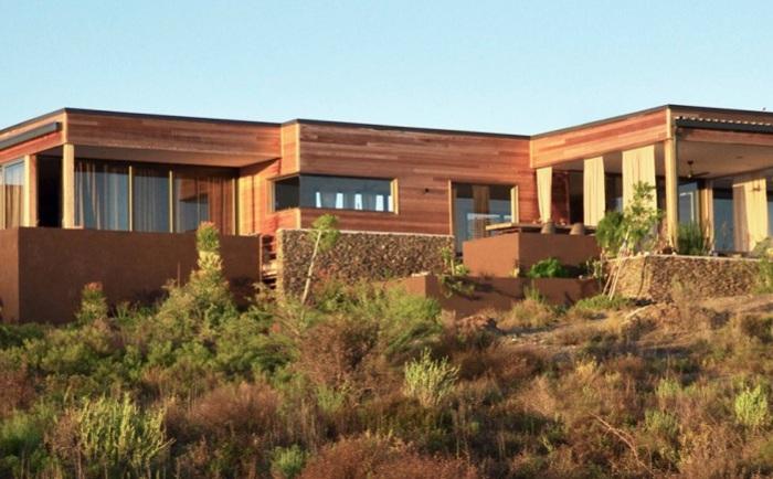 Ecomo House - модульный дом на территории экопарка в ЮАР.
