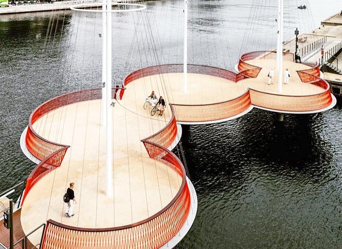 Cirkelbroen - новый пешеходный мост Копенгагена.