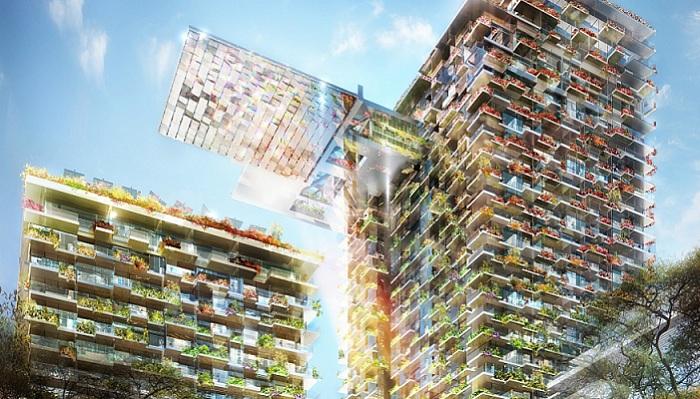 «One Central Park» - жилое здание с вертикальными садами.