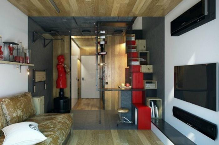 Полноценная квартира площадью всего 18 кв. метров.
