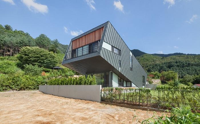 «Leaning house» - новый архитектурный проект от корейских архитекторов.