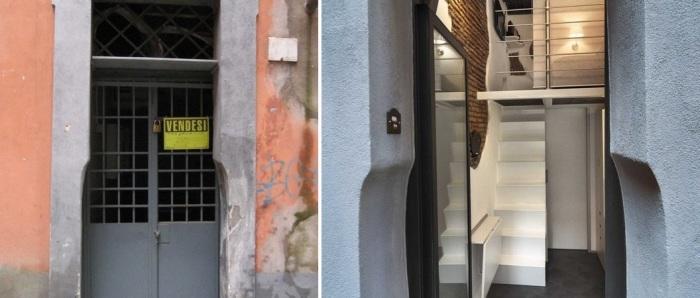 Вход в крохотную квартиру. | Фото: lifeedited.com.