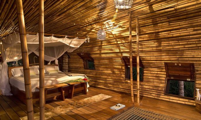 Бамбуковый дом площадью 65 кв. метров.