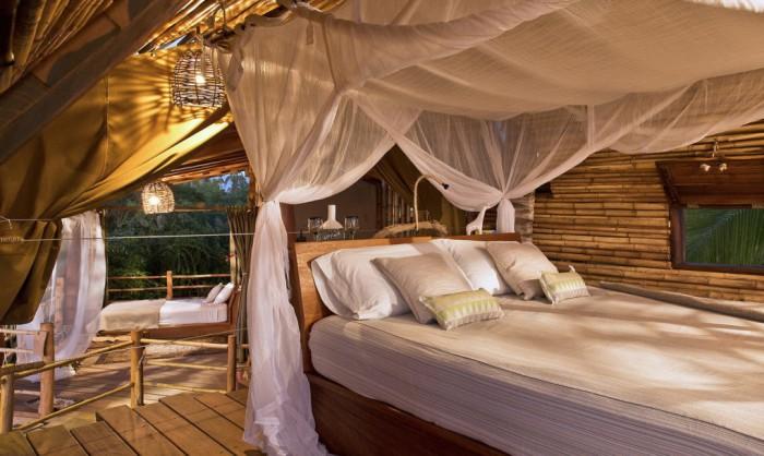 Бамбуковый дом. Спальня.