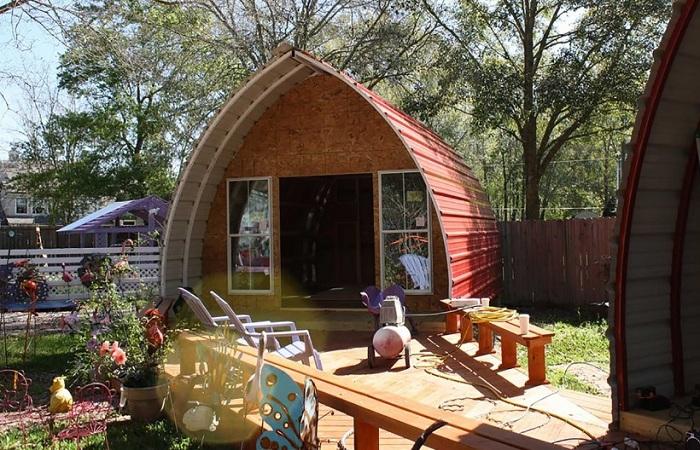 Арочный дом фирмы Arched Cabins.