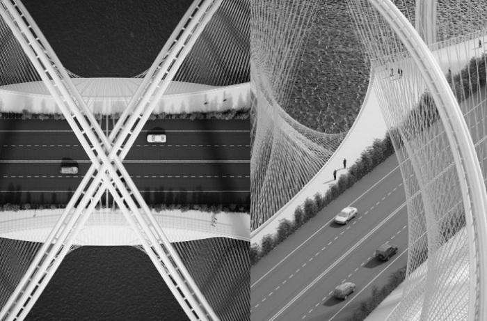 Мост от архитектурной фирмы Penda.