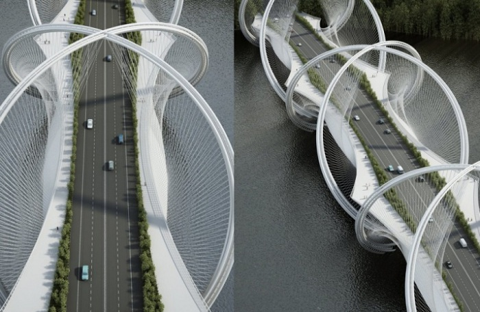 Проект моста в Китае.