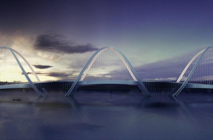 Будущий мост «Три пика».