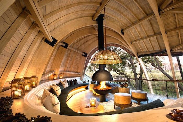 Sandibe Okavango Safari Lodge – эко-отель в Ботсване.