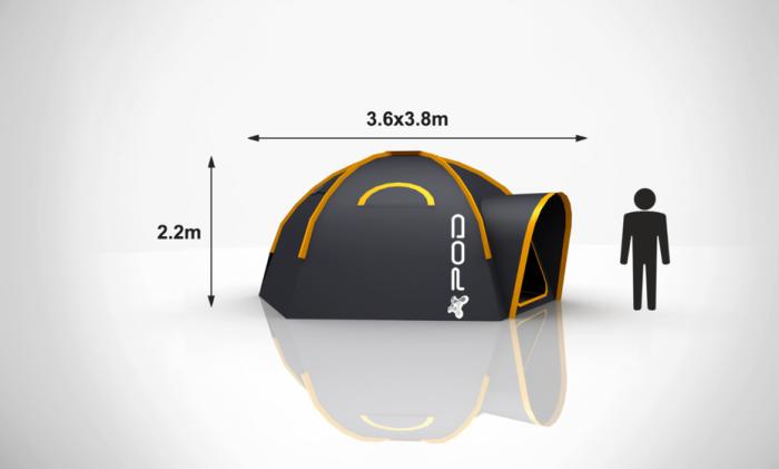 POD Tents - параметры модульной палатки.