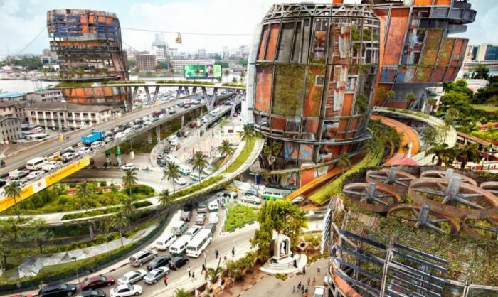 Shanty Megastructures - мегалачуги в центре города.