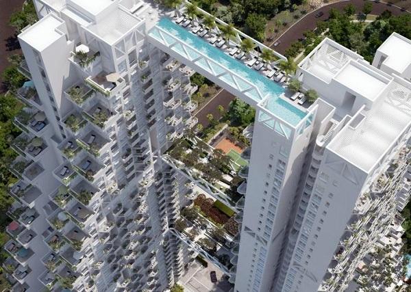 Sky Habitat - самый большой жилой комплекс в Сингапуре.
