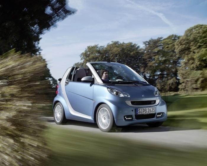 Крохотный двухместный автомобиль Smart ForTwo.
