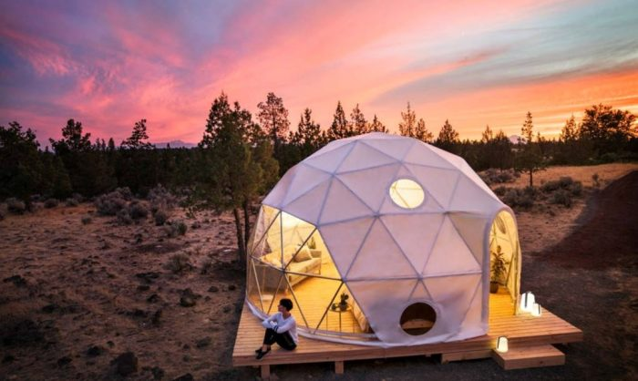 Геодезический купол - отличная альтернатива палаткам.