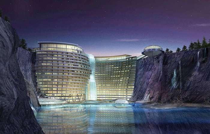Songjiang InterContinental - отель, который строится в окрестностях Шанхая. | Фото: pikabu.ru.