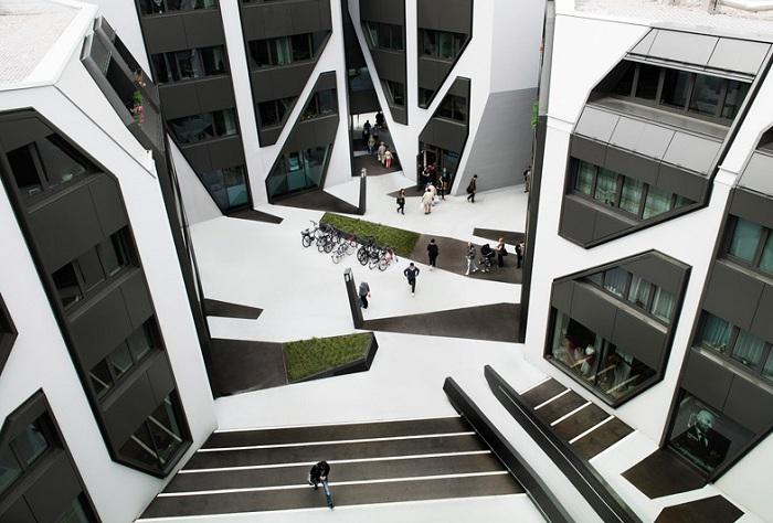 «Sonnenhof» - жилой комплекс в монохромном стиле.