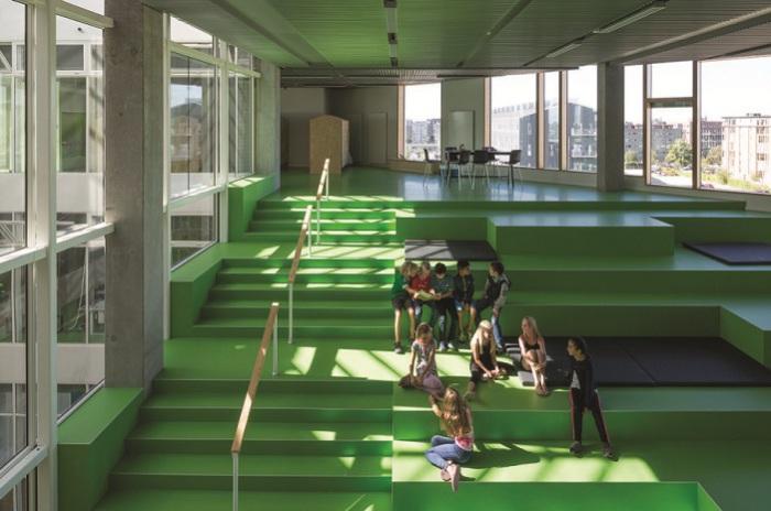 Зеленый - основной цвет школы South Harbor School.