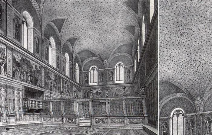 Первоначальный вид потолка Сикстинской капеллы. | Фото: hexapolis.com.