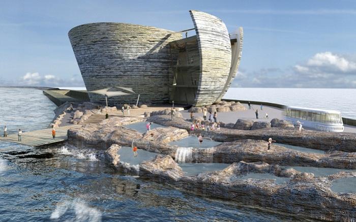Проект Общественного Центра в заливе Swansea (Уэльс).