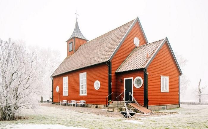 Дом, реконструированный из небольшой часовни.