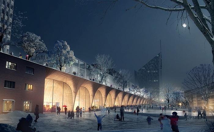 Tampere. Проект городского парка.