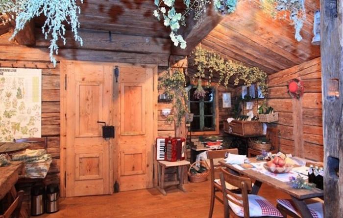 Домик для отдыха в деревенском стиле.