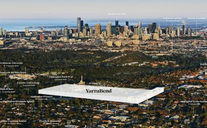YarraBend - официальное название нового района в Мельбурне.